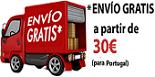 Portes GRATIS (CTT Correio Registado) para encomendas de artigos de valor igual ou superior a 30€ (excluindo descontos) com destino a Portugal Continental e Ilhas (Madeira e Açores).